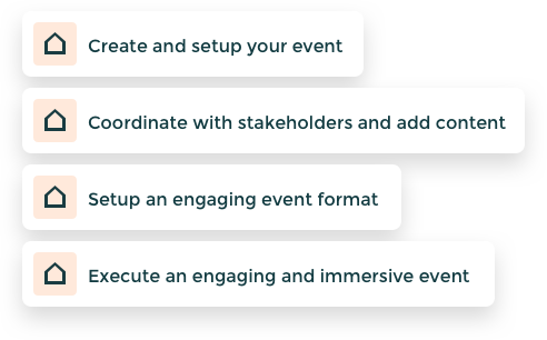 Event steps to be taken.