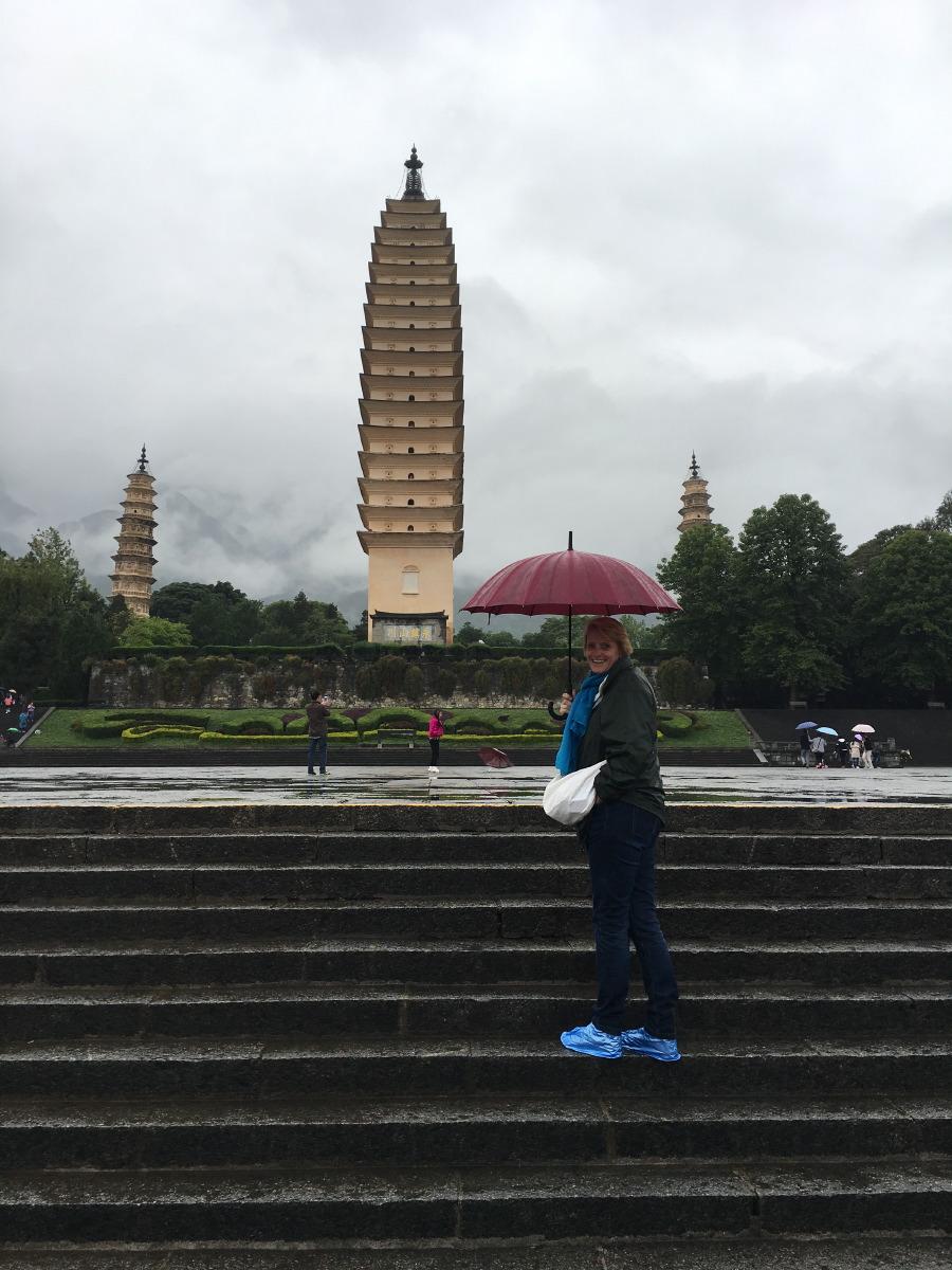 Dali. The three pagodas of Chongsheng Temple