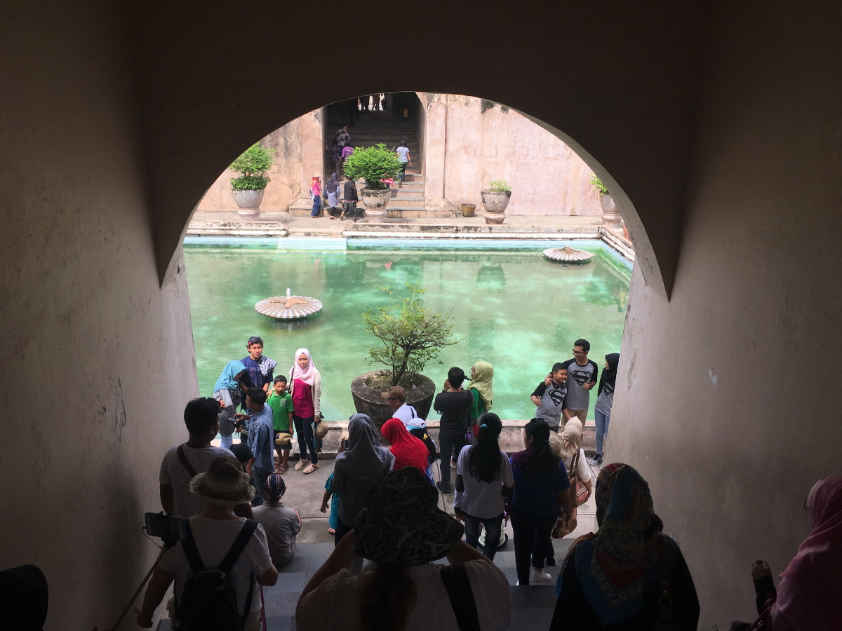 """The name Taman Sari comes from the Javanese words taman, meaning a """"garden"""" or """"park"""" and sari, which means """"beautiful"""" or """"flowers""""."""