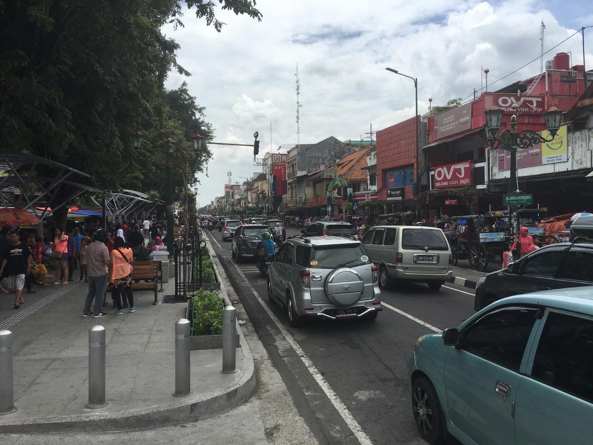Jalan Malioboro. The main shopping street in Yogyakarta. Mostly tourist shops along the road itself.