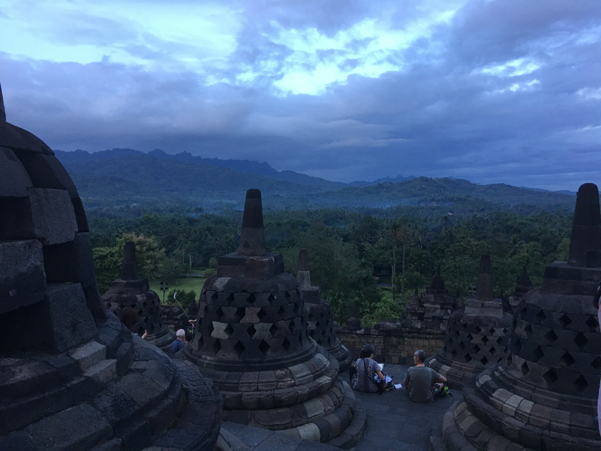 Worldwide knowledge of Borobudur's existence was sparked in 1814 by Sir Thomas Stamford Raffles, then the British ruler of Java, who was advised of its location by native Indonesians.