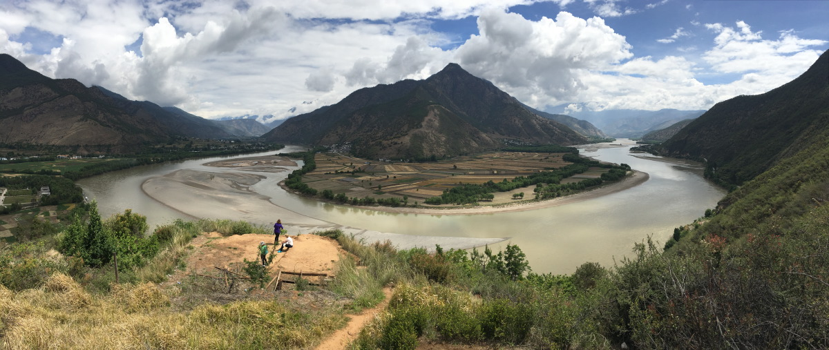 First bend in the Yangtse River