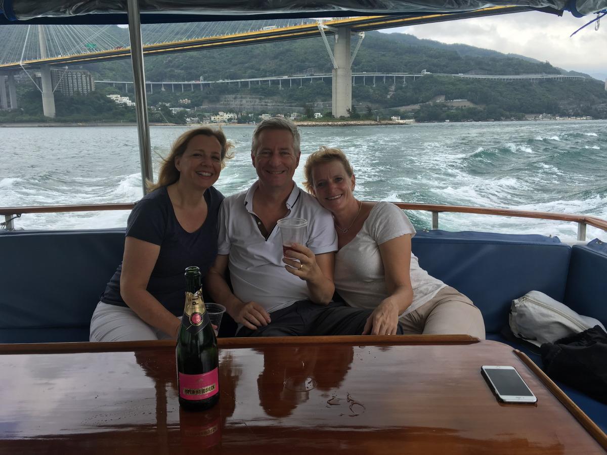 Hong Kong Boat trip with our dear friend Maureen