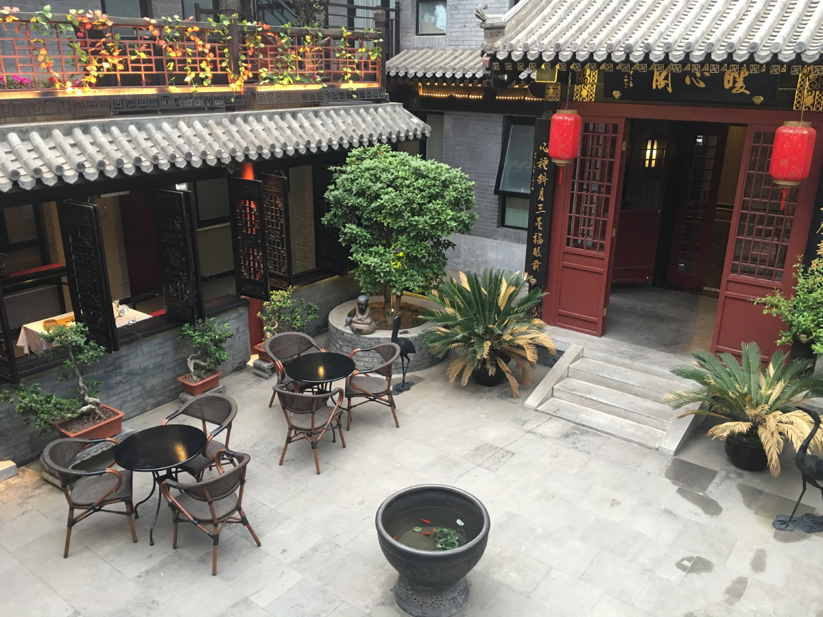Lypin Courtyard Hotel. The view from our hotel door into the courtyard. Very charming. Imagine the whole day and evening Chinese music...