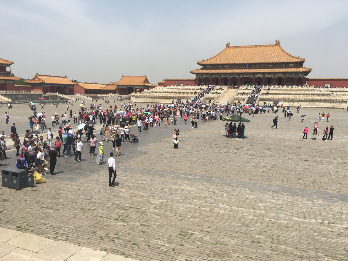 The Forbidden City is of an unbelievable scale. This is the Court of the Imperial Palace, between the Gate of Supreme Harmony and the Hall of Supreme Harmony.