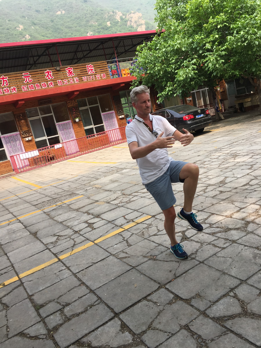 Tai Chi Master Just flexing the tired muscles a bit....