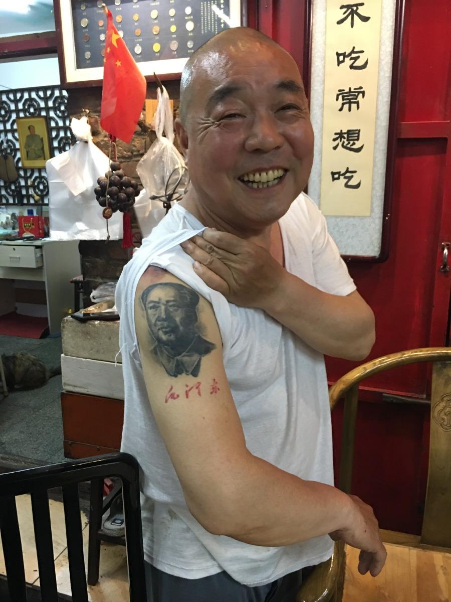 The owner is a Mao fan.