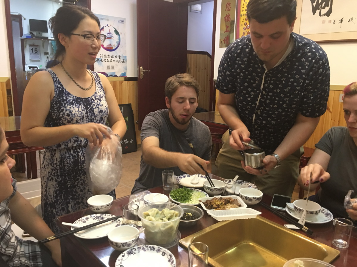 A fantastic experience! First stop was an unsightly place in the hutongs where they served Mongolian hotpot. It was delicious.