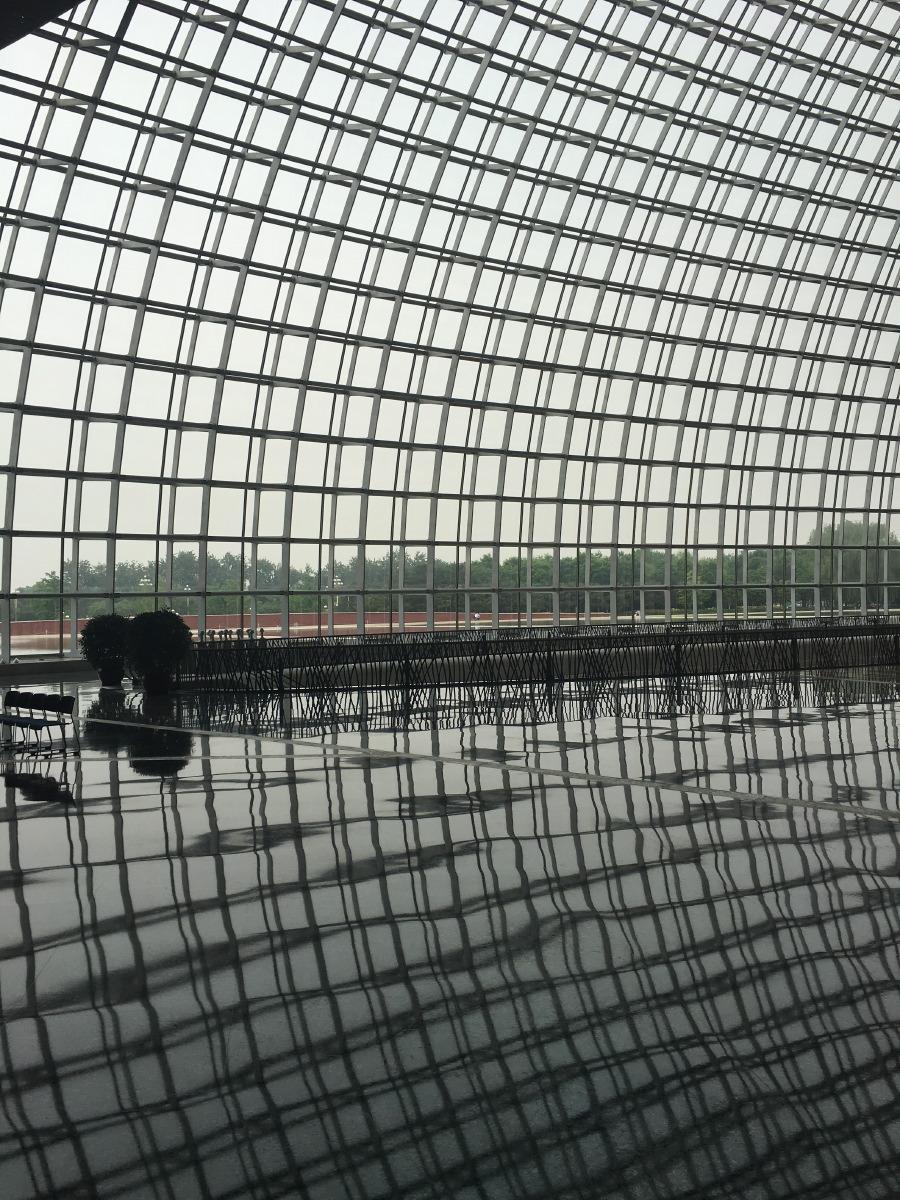 Amazing glass exterior.