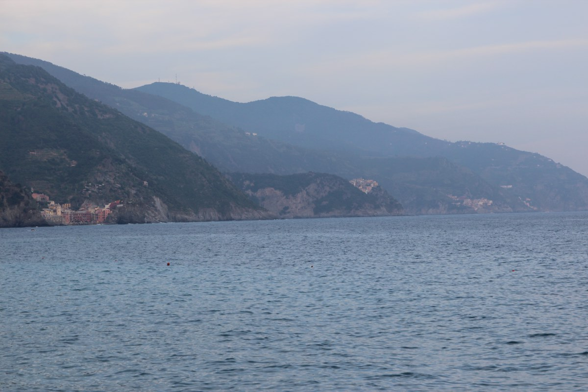 From Monterosso you can see the other 4 towns of Cinque Terre