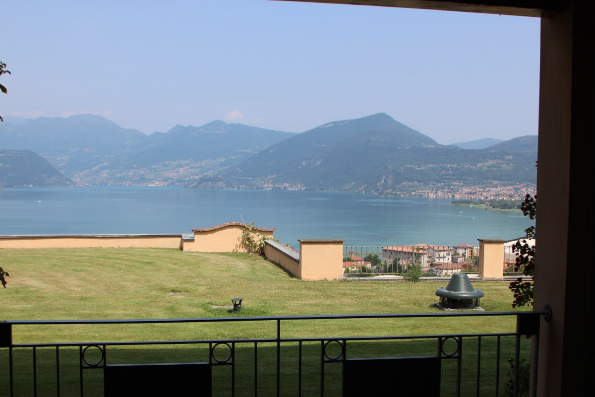 View from the hotel room on Lago d'Iseo. Nice place!