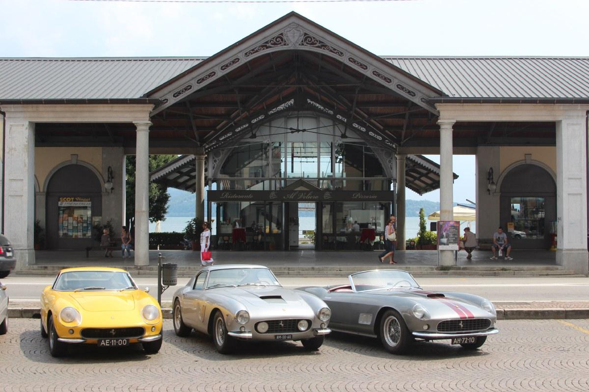 A club of Dutch tourers in their old Ferrari's, back in the 'home country' of their cars