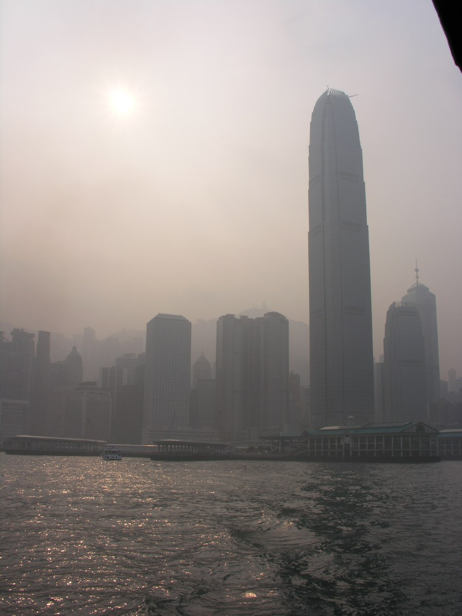 Looking towards Kowloon