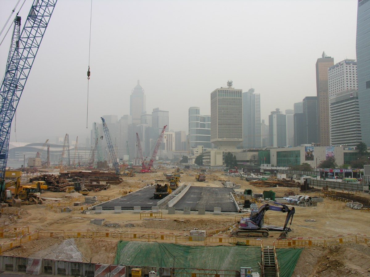 The city is constantly reclaiming land from the sea because demand for houses and building sites is still enormous