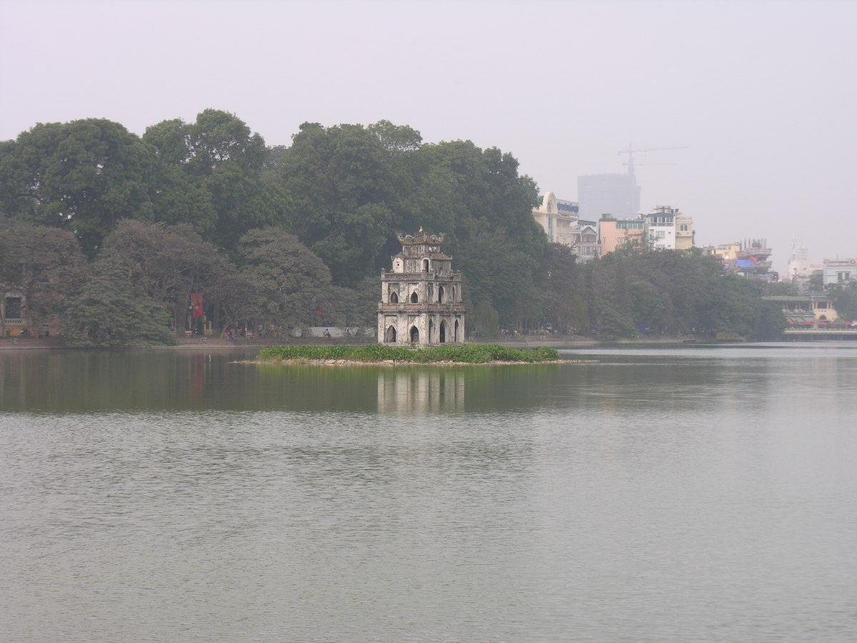 The lake in the centre of Hanoi