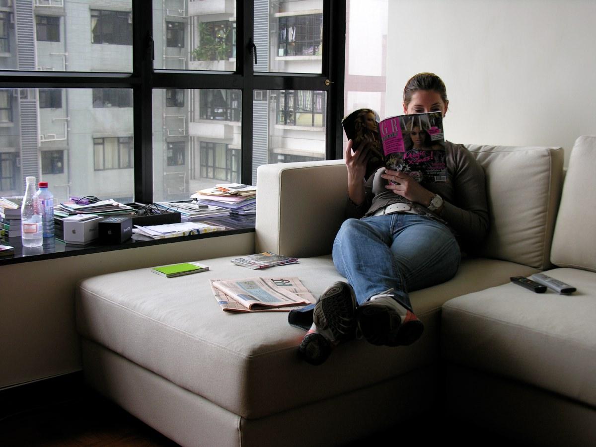 In Joy's apartment