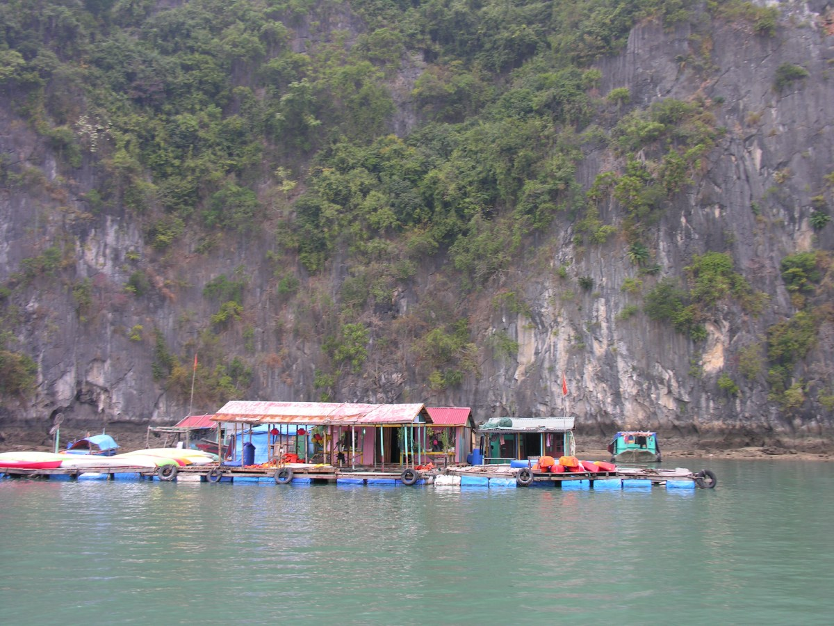 A floating town of 700 inhabitants