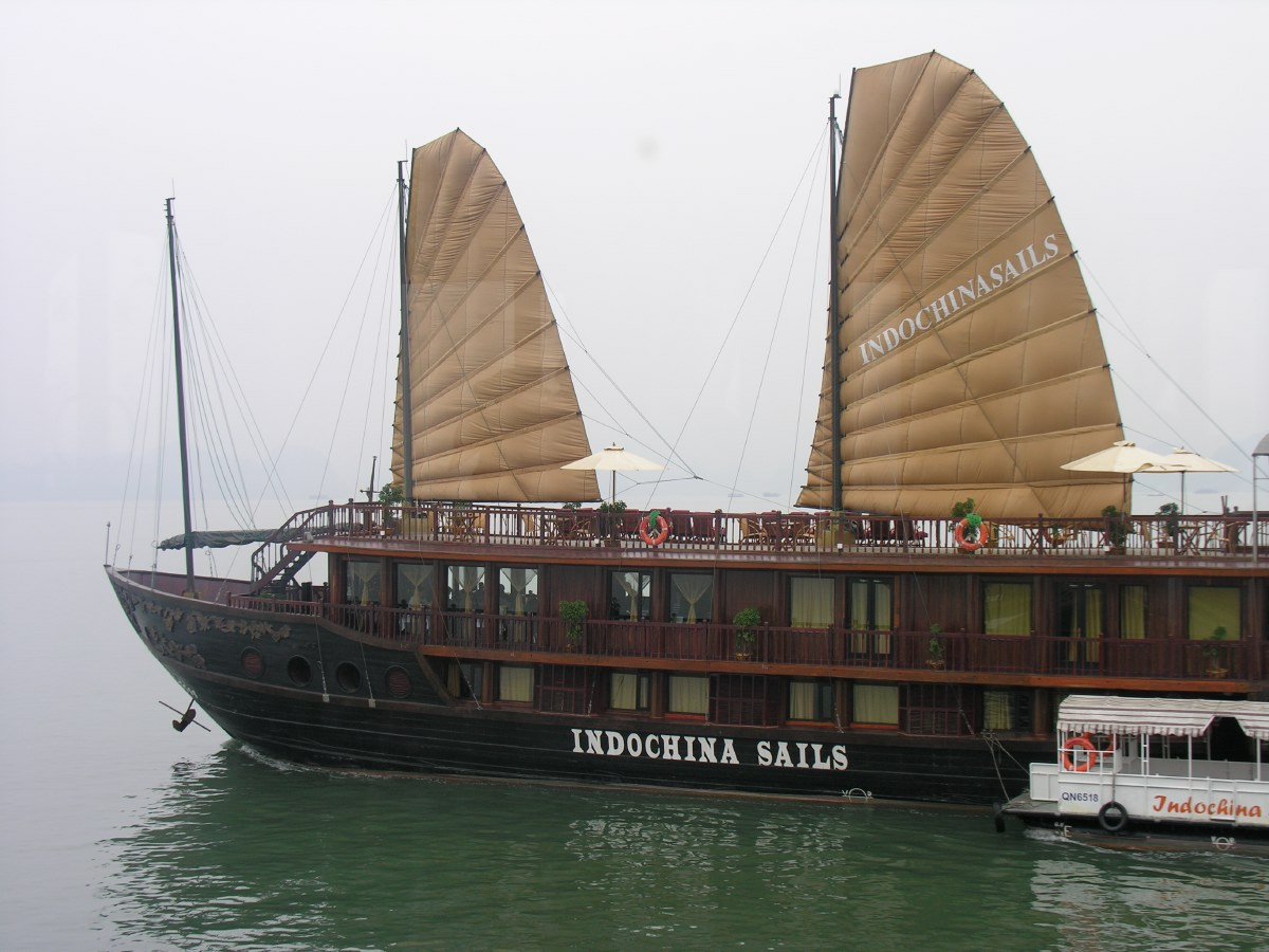 Once out on open water, the sails help to keep fuel usage low