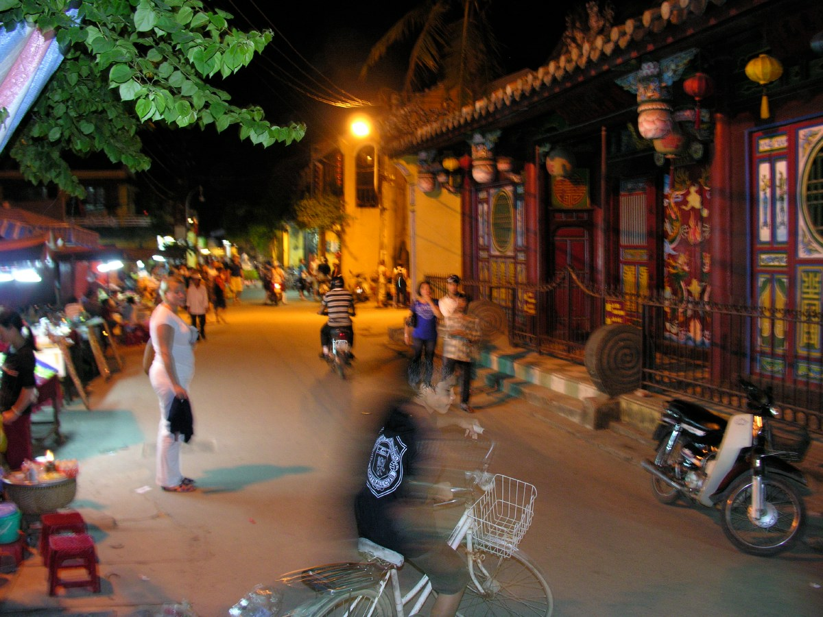 The old centre of Hoi An is lively and lovely