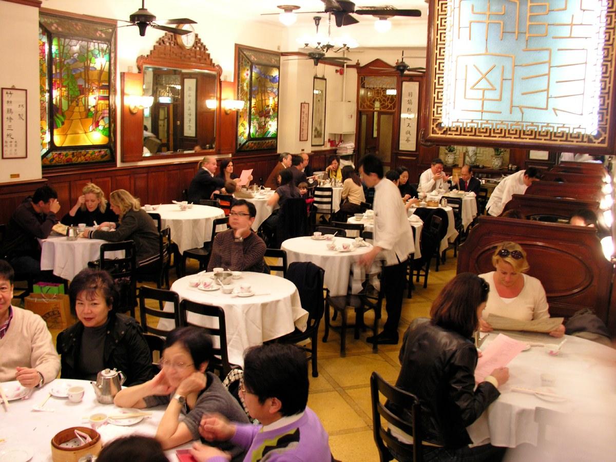 Dim sum lunch in Luk Yu Tea House