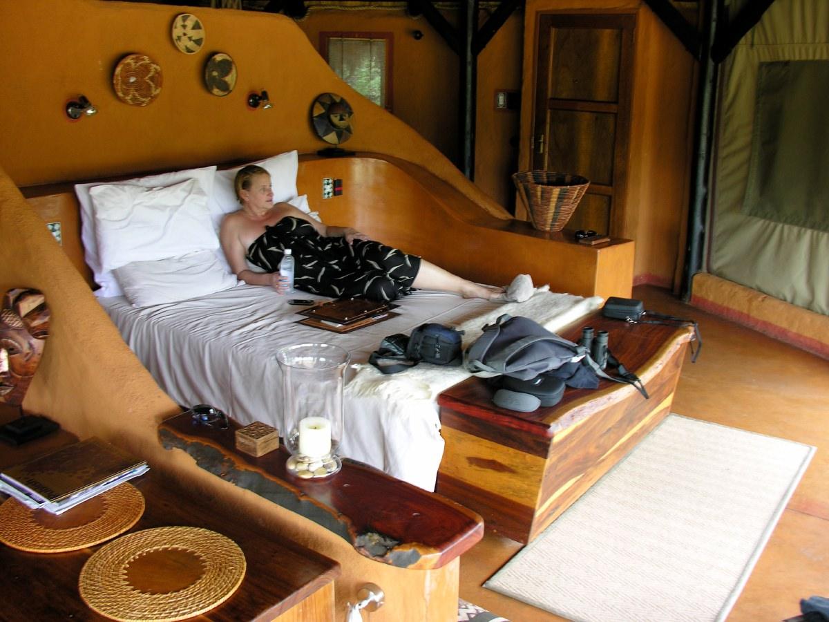 Our room in Okonjima Bush Camp