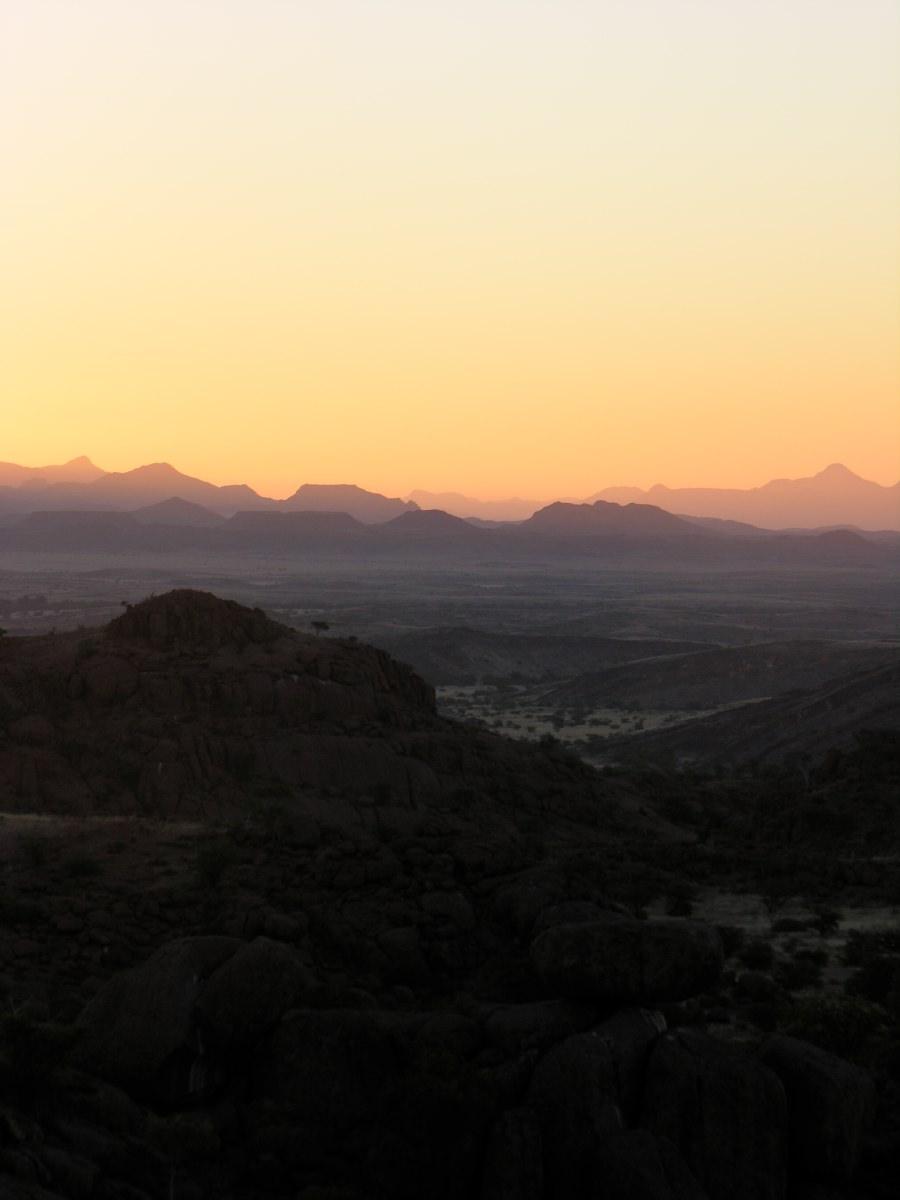 Damaraland sunset