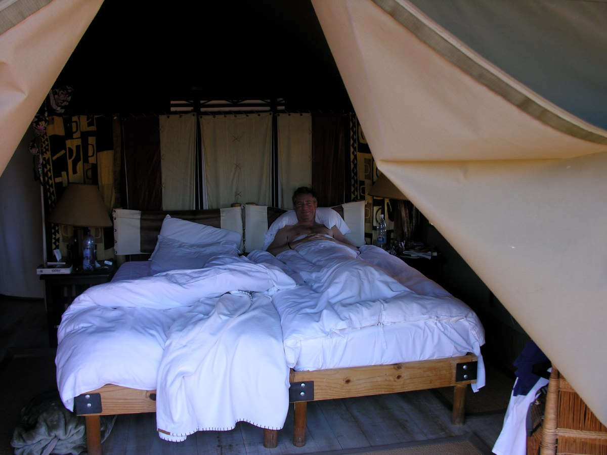Yes, it's a tent! But with great beds...