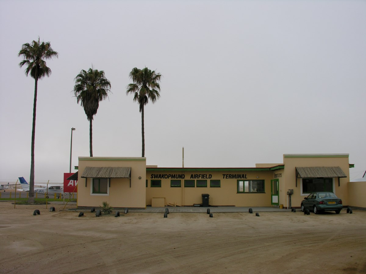 Here, at Swakopmund Airport we had to say goodbye to our 4x4. From here on we would be flying in small Cessna airplanes