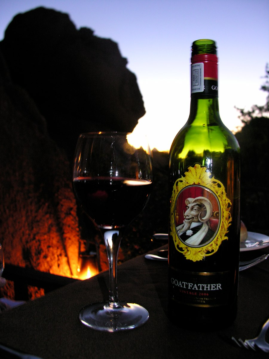 That night we chose a vintage red wine from South Africa by the infamous wine house 'Goats Do Roam' called 'The Goatfather'