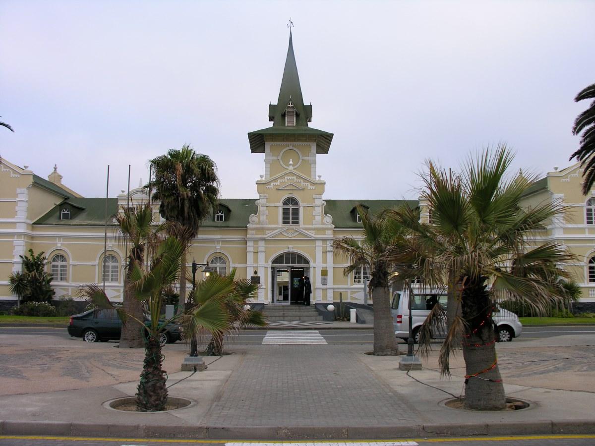 Our hotel in Swakopmund, a former railway station