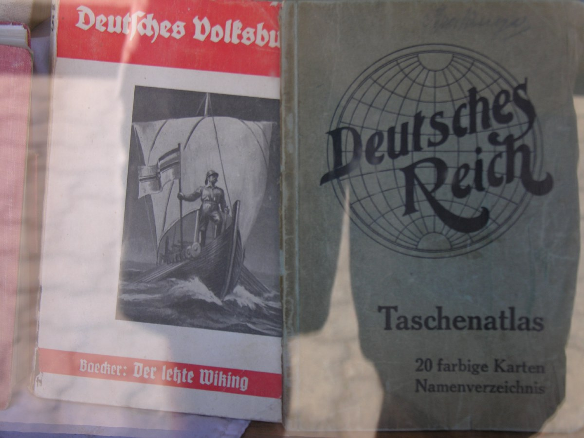 The literature in the local bookstore does bring back memories to a lesser period in German history...