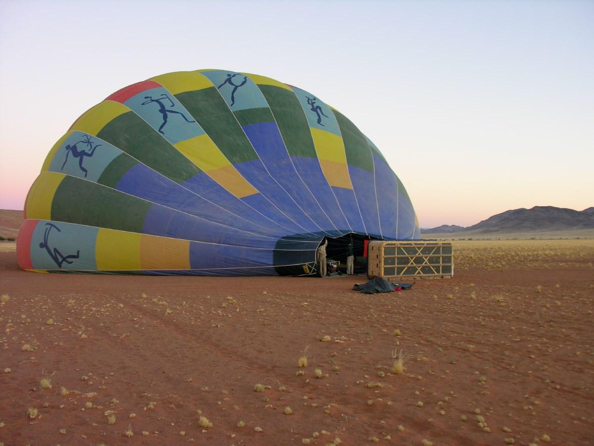 Ballooning over the Sossusvlei!