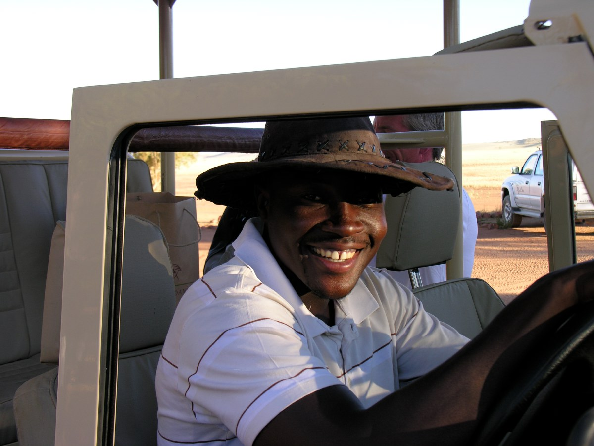 Progress, our guide at Wolwedans. Nice guy with a lot of knowledge about the Namib Rand flora and fauna