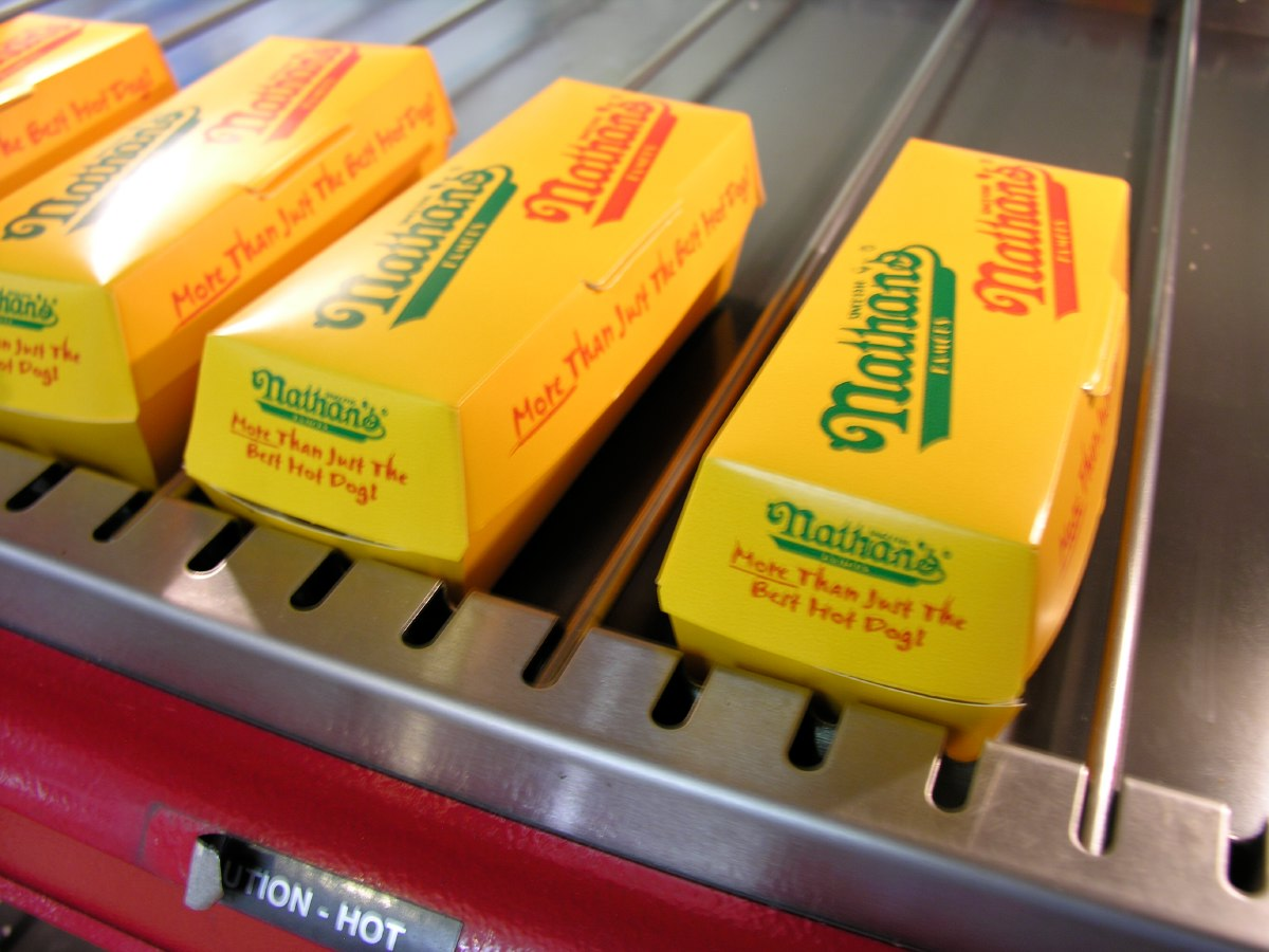 Another icon of American fast food: Nathan's hot dogs