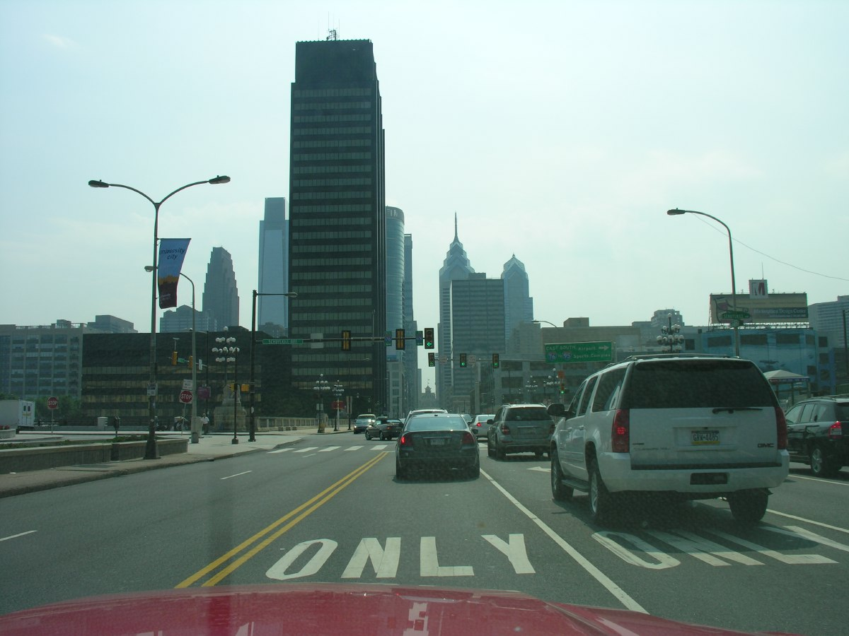 Towards downtown Philly