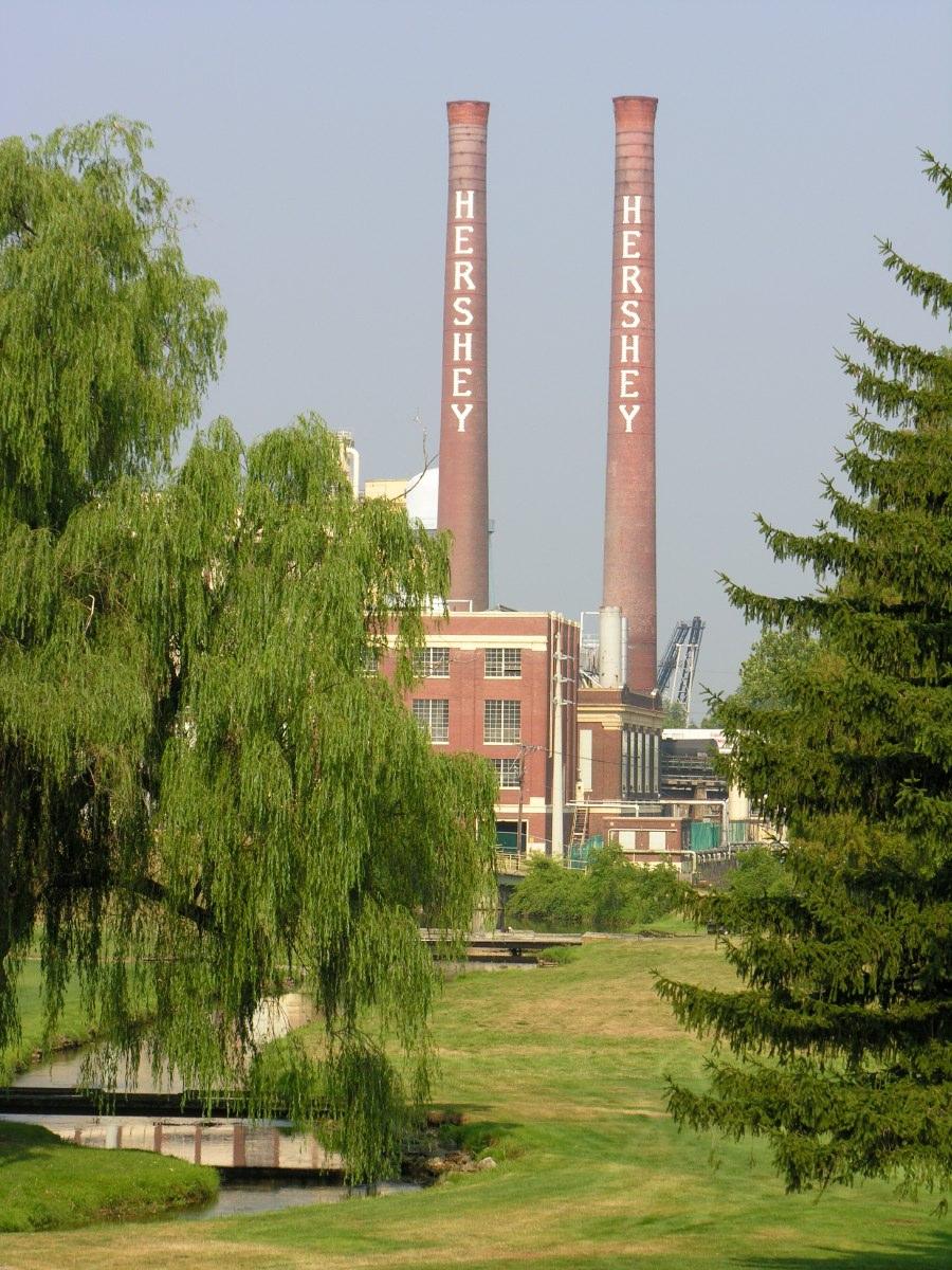 The original Hershey's chocolate factory, Hershey, Pennsylvania