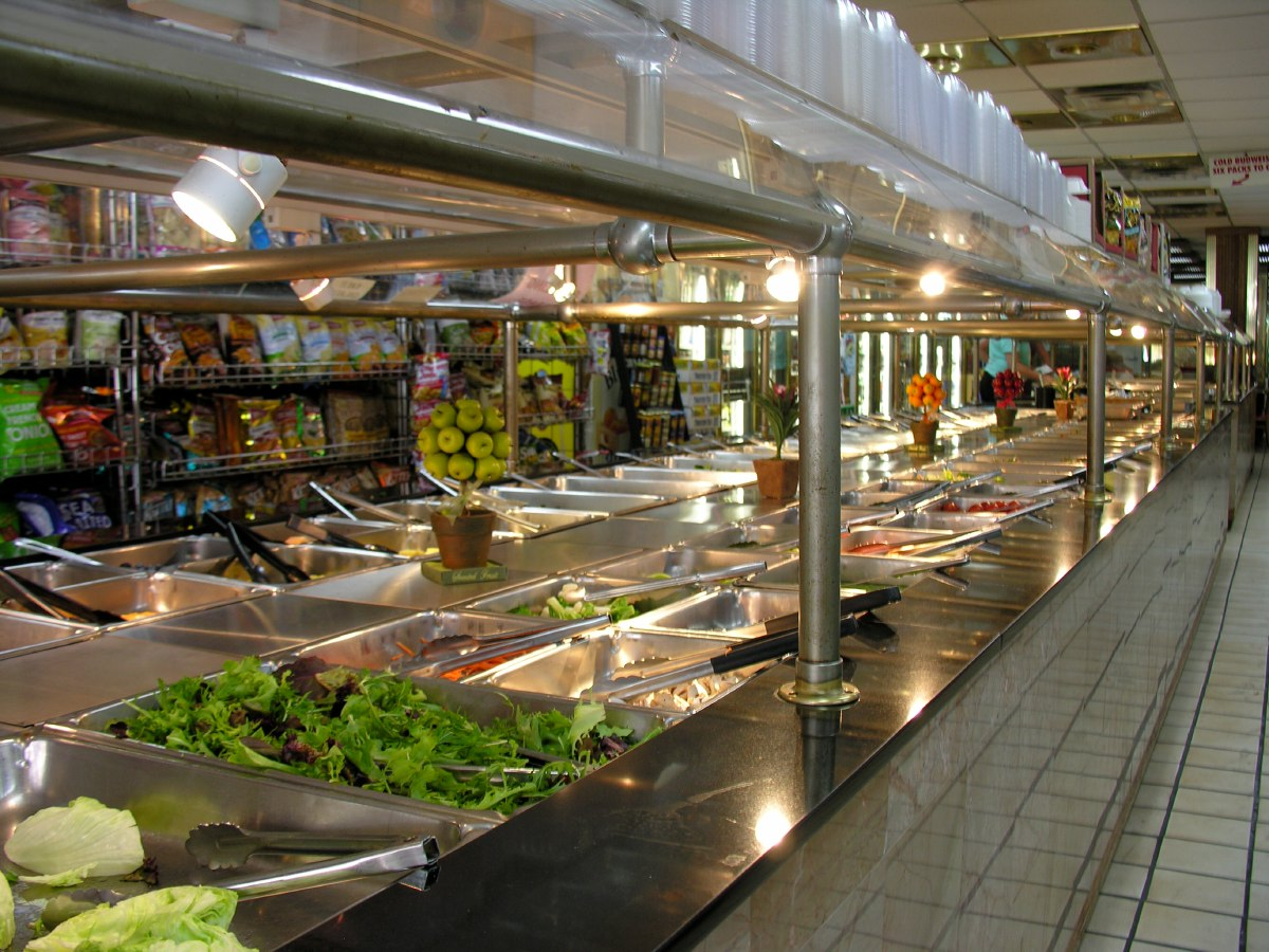 Salad bars, another typical US treat