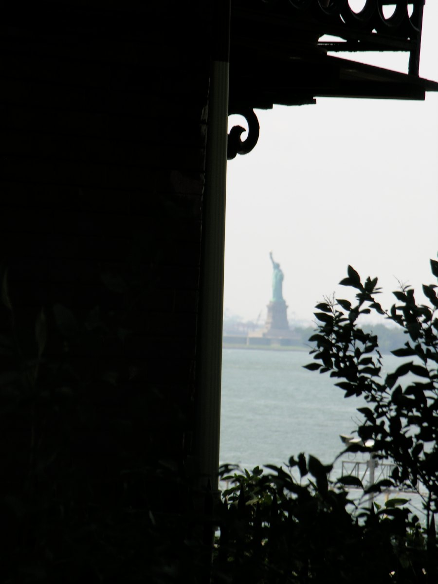 The Statue of Liberty in the distance