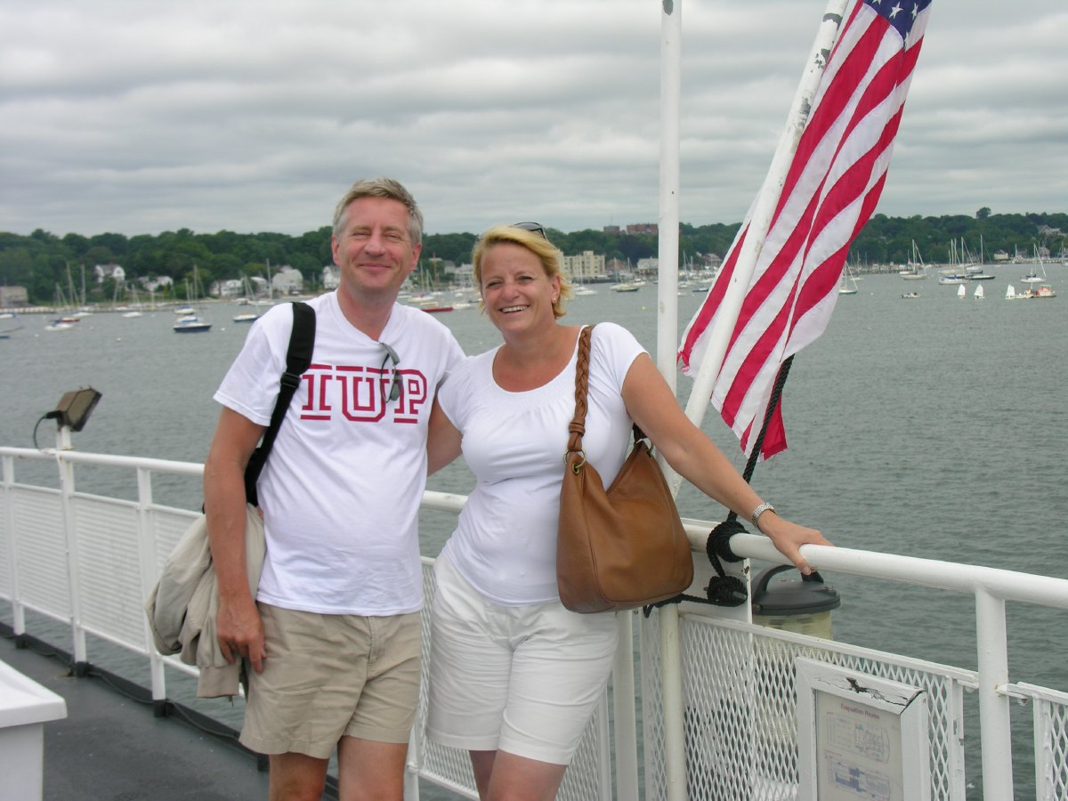 Crossing over from Rhode Island to Long Island by ferry