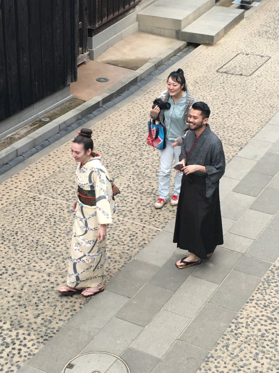 Tourists can dress up in traditional Japanese clothing and wander the streets like it's 1799.