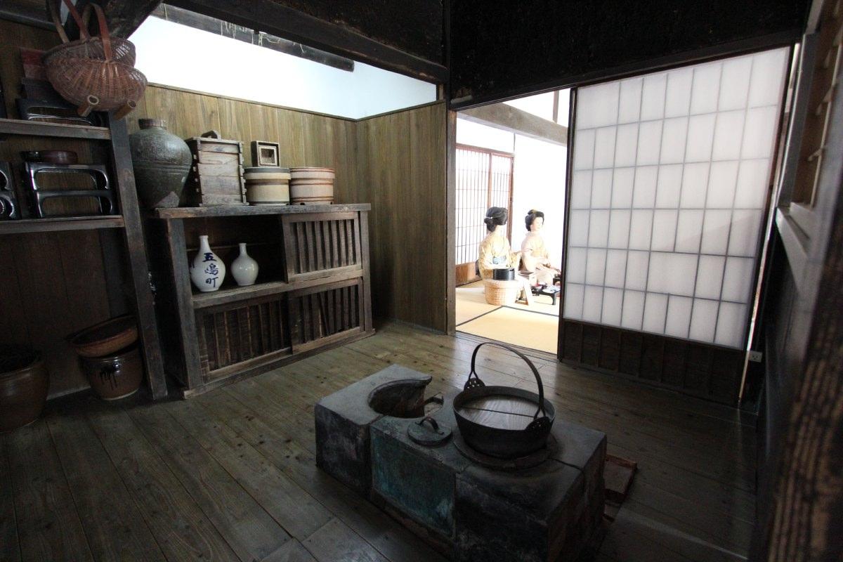 The kitchen in the samurai household