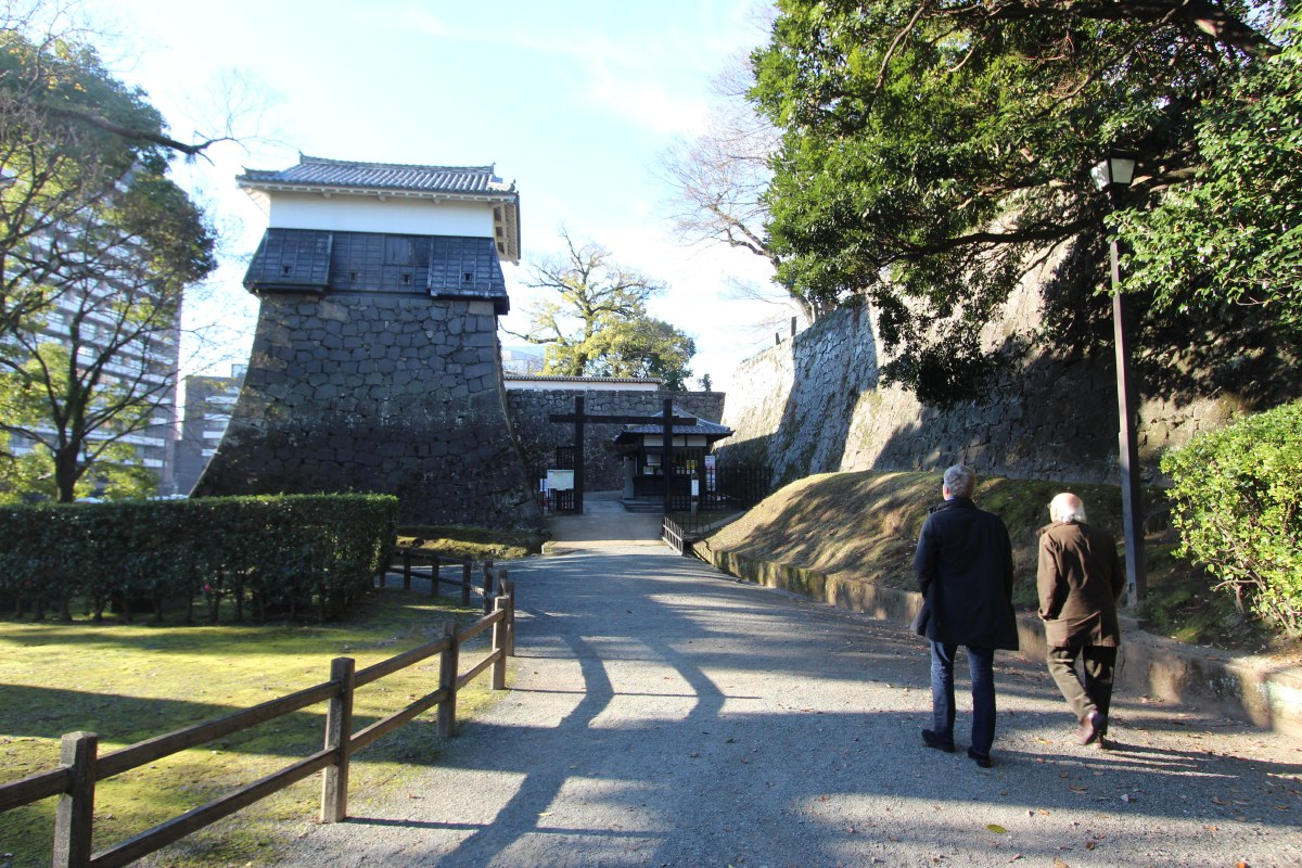 Only a few structures of Kumamoto Castle have survived since the castle's construction in 1607.