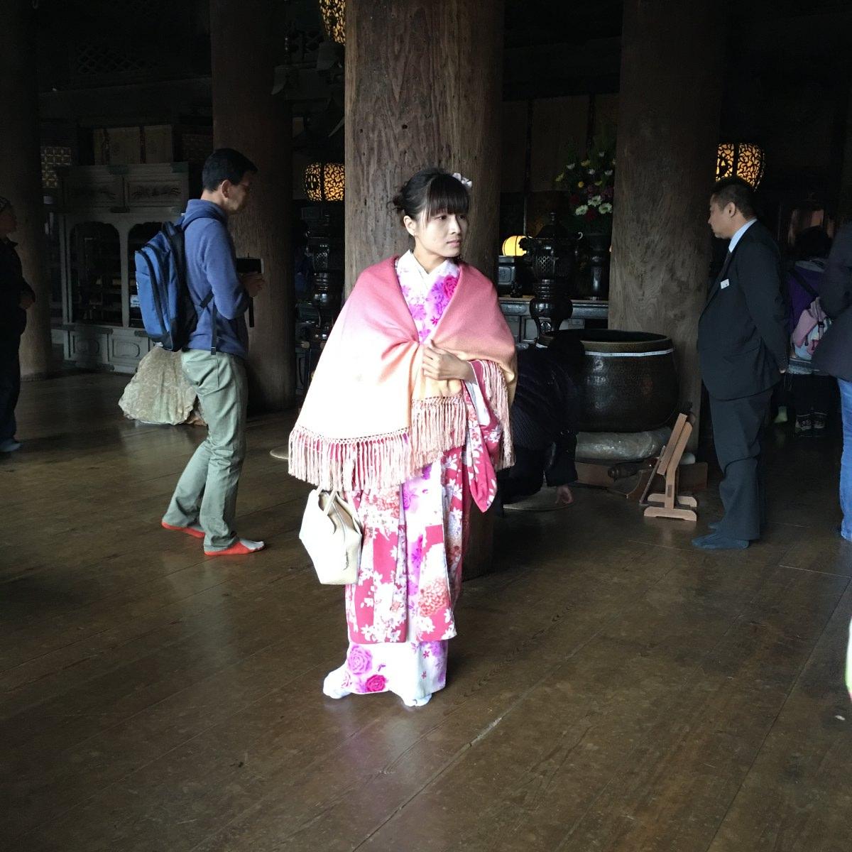 Dressed up girl in kimono