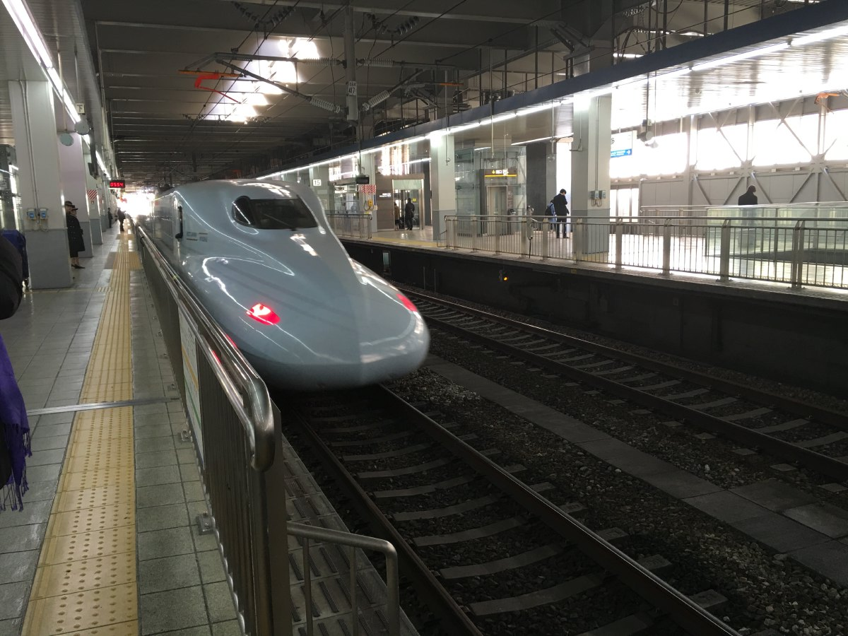 The Tokaido Shinkansen (Tokyo - Nagoya - Kyoto - Osaka) is the oldest of the Shinkansen network. Running at up to 320 km/h, the Shinkansen is known for punctuality: most trains depart on time to the second.