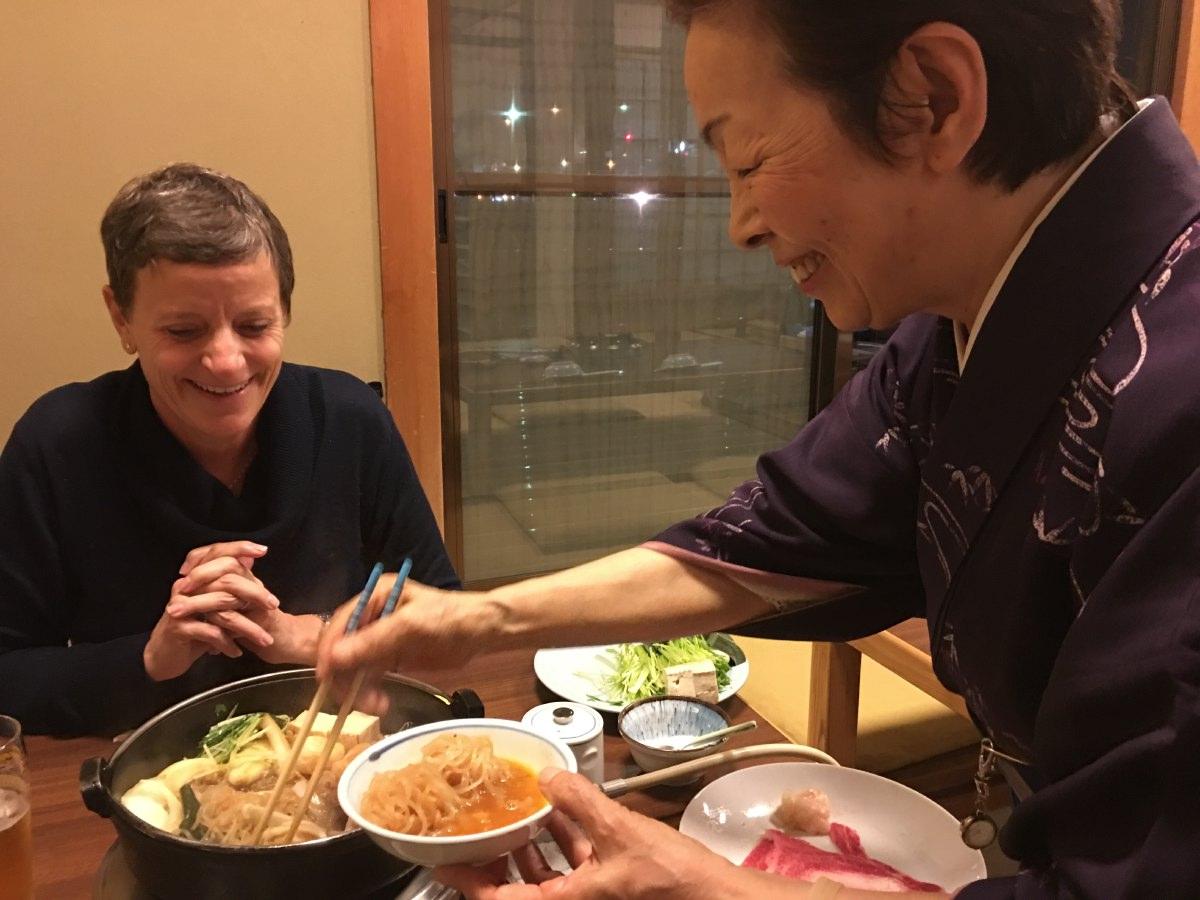 Yes! Sukiyaki dinner in Pontocho street