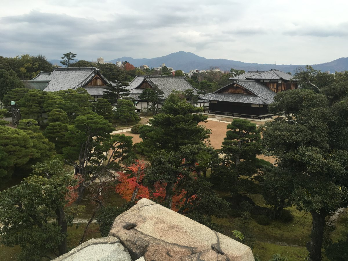 The grounds of Nijo Castle in Kyoto