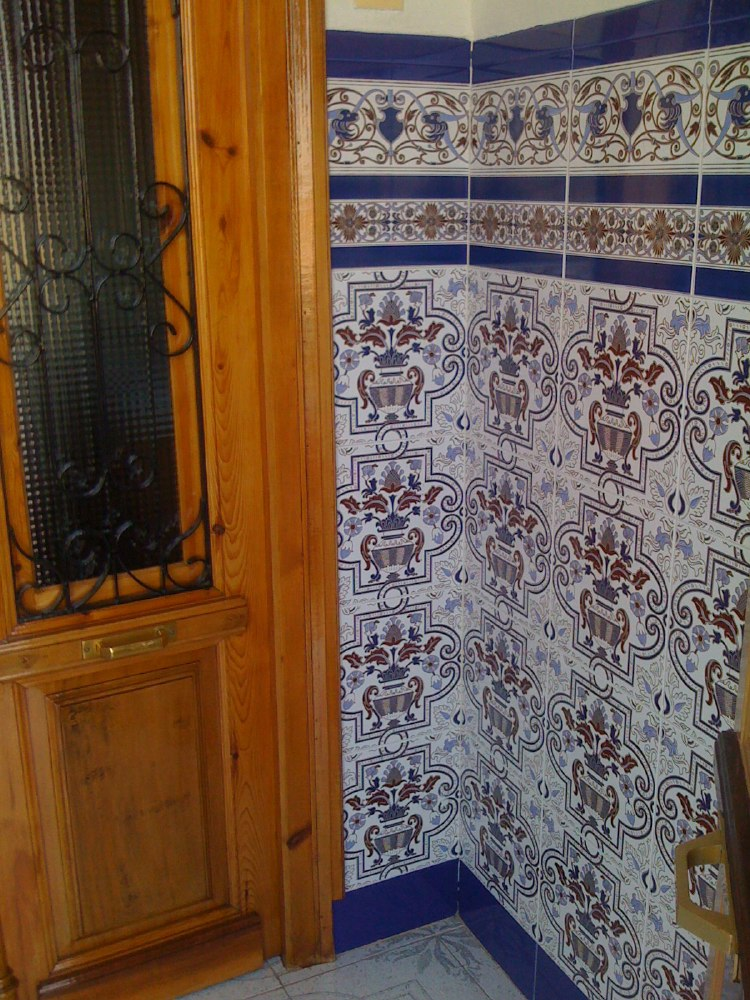 Azulejos, the typical Spanish blue tiles