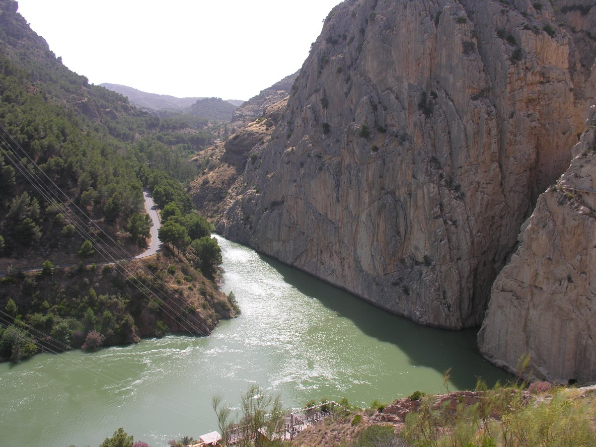 Garganta del Chorro. This also happens to be the south entrance to the famous 'Caminito del Rey' walkway