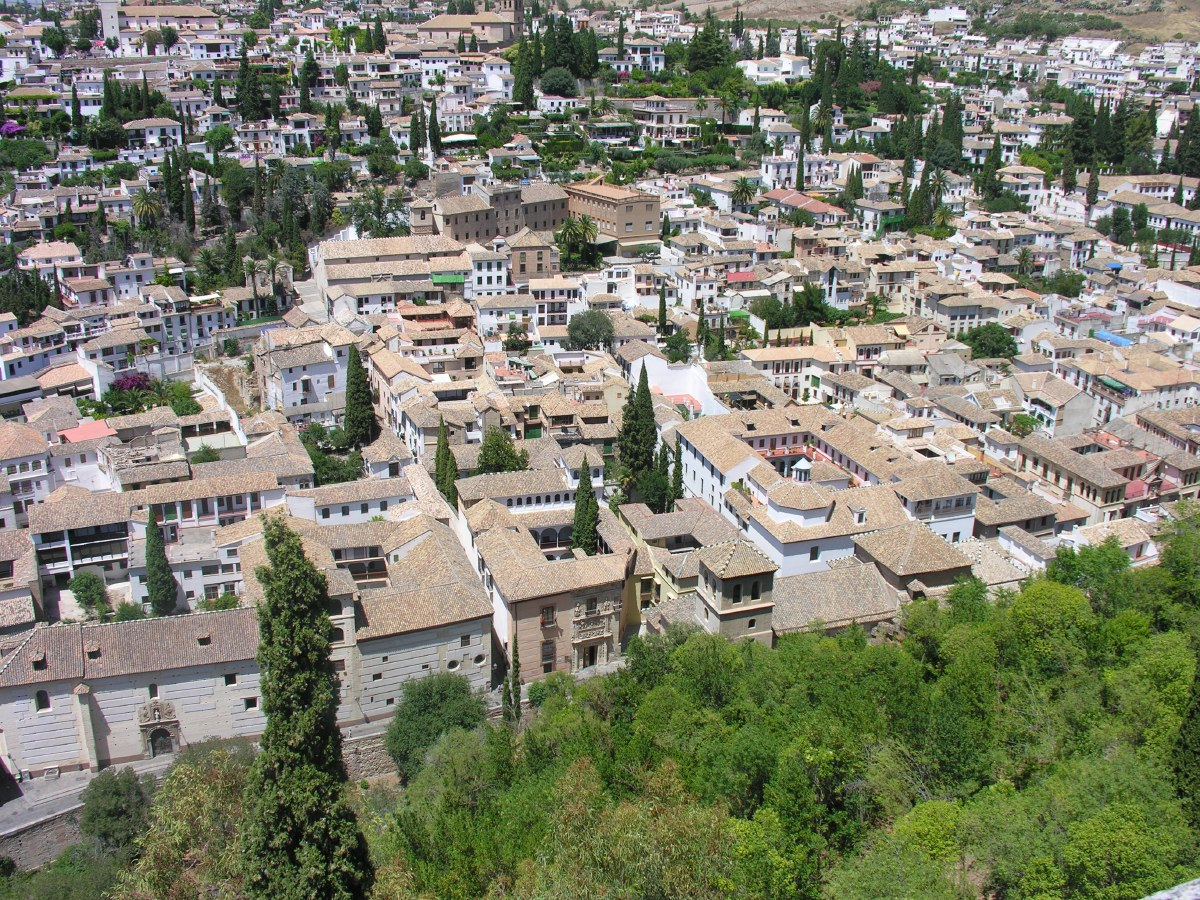 View from the Alhambra on downtown Granada