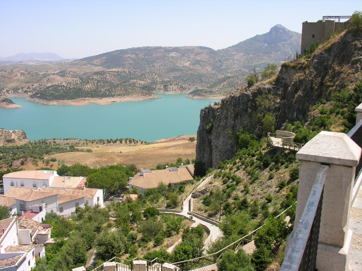 View from Zahara towards the reservoir